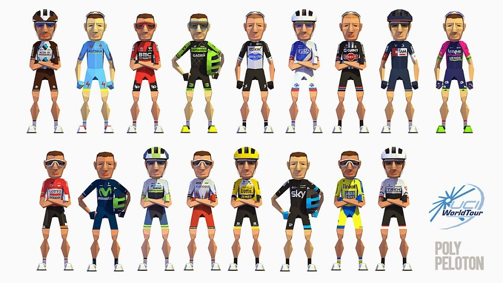 The Facets of Life – Poly Peloton – Cycling Art